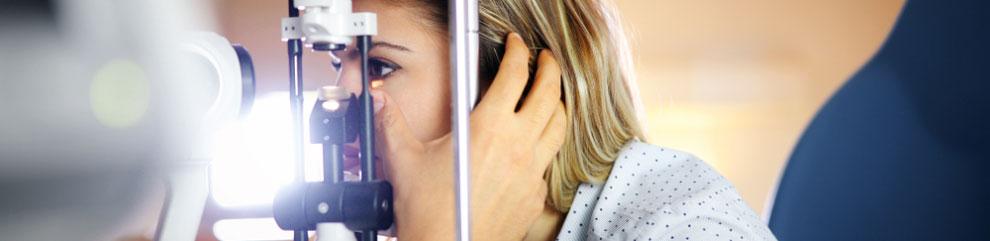 Patient Getting Eye Exam