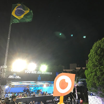 Ginsberg Eye at Ironman Brazil 2018 in Florianopolis, Brazil