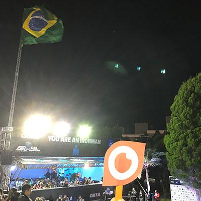Ginsberg Eye at Ironman Brazil 2018 in Florianopolis, Brazil
