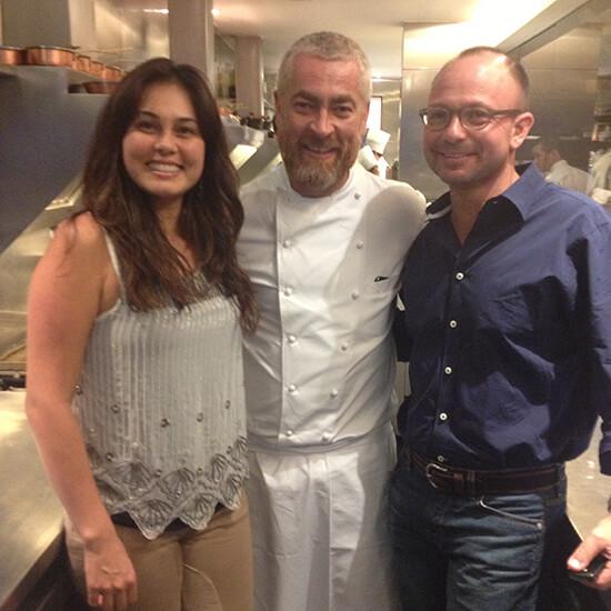 Dr. Barrett Ross Ginsberg and Suzana Akemi Tanimoto, P.A. with chef Alex Atala of D.O.M. restaurant in Sao Paulo, Brazil.