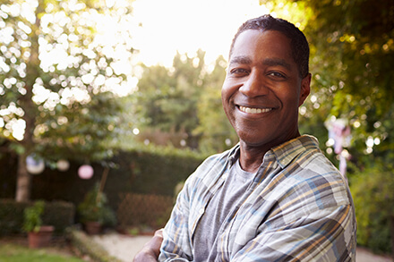 Mature African American Male Smiling