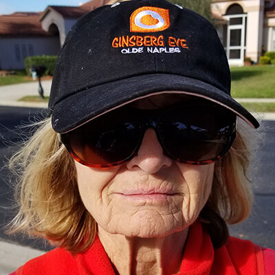 Woman wearing Ginsberg hat