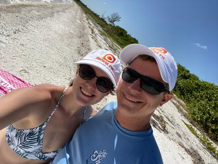 Matt Schermerhorn and Ginsberg Eye employee Jessica Schermerhorn relaxing on Kice Island and Cape Romano, Marco Island,FL